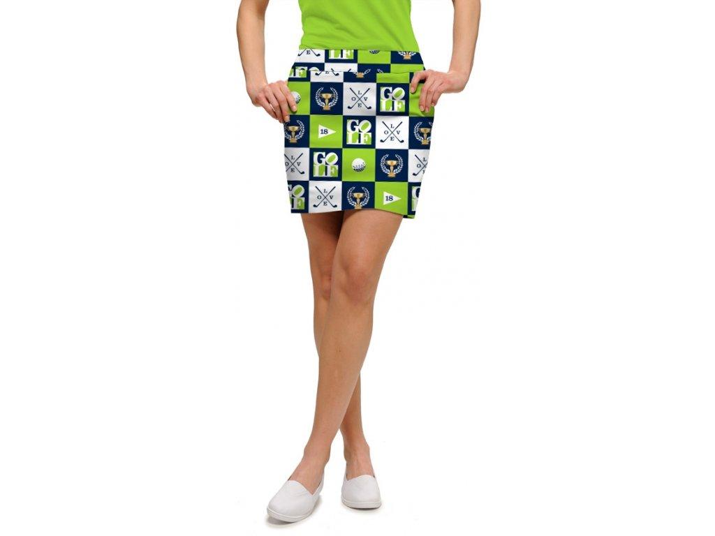ilovegolfnavygreen womensskort 2